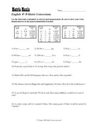 All Worksheets  Metric System Worksheets - Printable ...