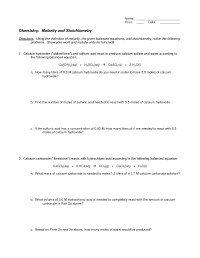 Stoichiometry Problems Worksheet Free Worksheets Library ...