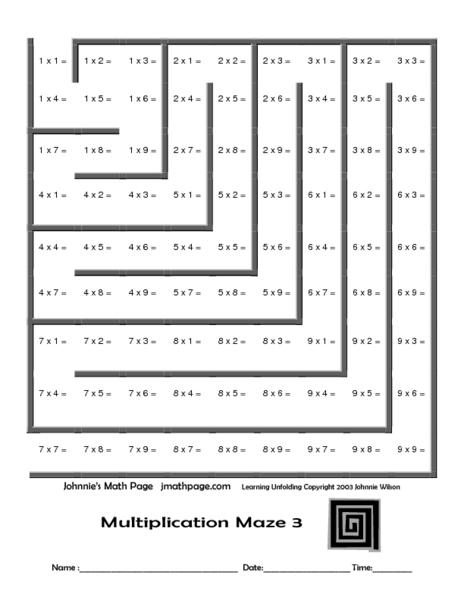Number Names Worksheets  Math Mazes Worksheets