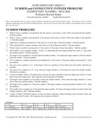 Integer Problems Worksheet Free Worksheets Library ...
