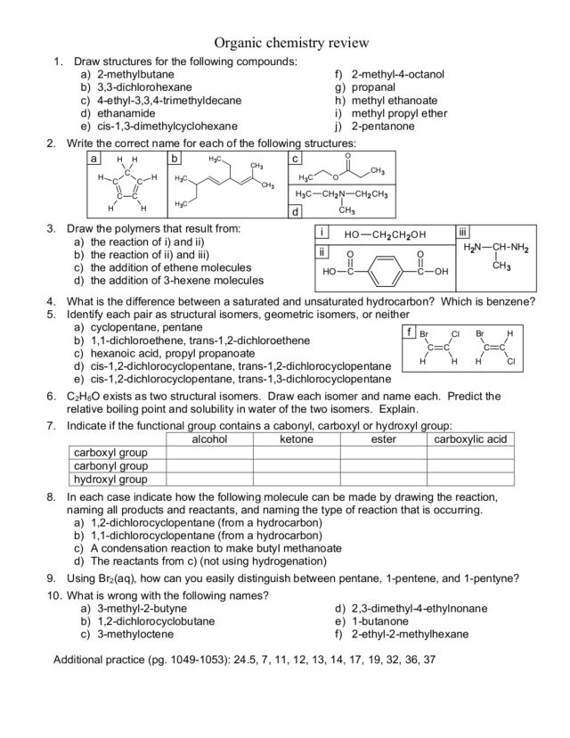 Chemistry Review Worksheets Free Worksheets Library  Download And Print Worksheets  Free On