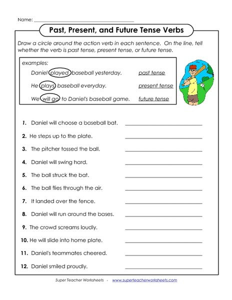 Future Tense Verbs Worksheet