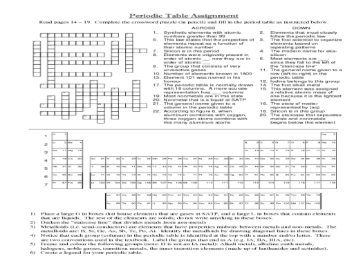 periodic table worksheet answers chemistry if8766 – Periodic Table Puzzle Worksheet Answers