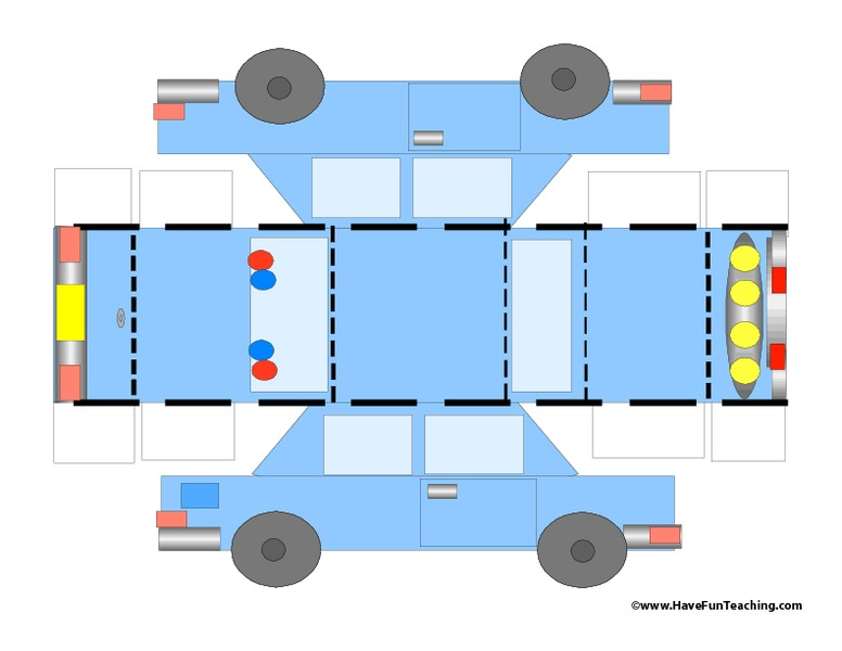 Police Car Template Preschool