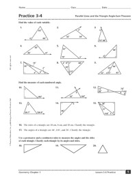 Math Triangle Worksheets