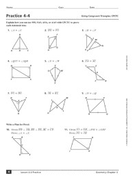 Congruent Triangles And Similar Triangles Worksheet Free ...