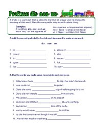 Roots And Affixes Worksheets Free Worksheets Library ...