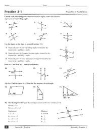 All Worksheets  Parallel Lines And Transversals ...