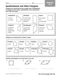 All Worksheets  Quadrilaterals Worksheets - Printable ...