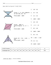 Using Congruent Triangles Worksheet Answers - 4 proving ...