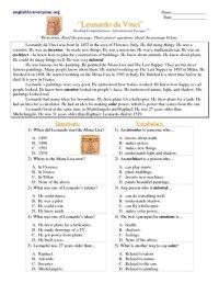 Reading Comprehension Worksheets Multiple Choice 8th Grade ...