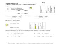 Collections Of Grade Math Worksheets Decimals Bridal ...