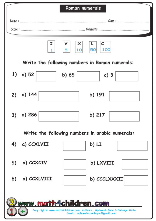 Roman numerals worksheets for 6th grade ibookread Download