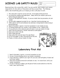 Safety In The Lab Worksheet Free Worksheets Library ...
