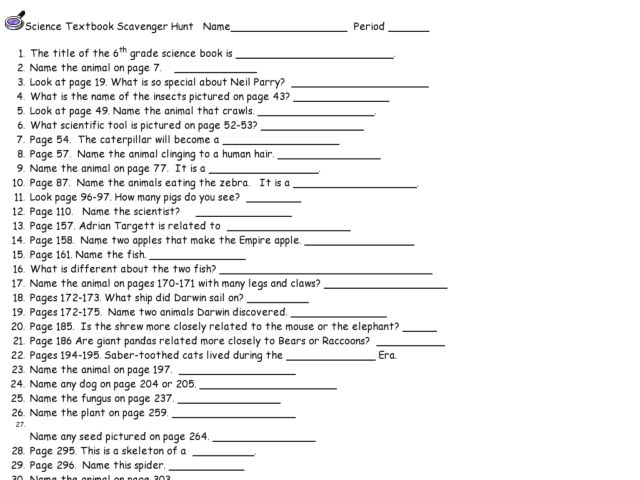 Scavenger Hunt Worksheet Free Worksheets Library