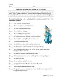 Printables. Sentence Fragments Worksheet. Mywcct Thousands ...