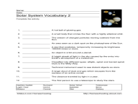 5th Grade Science Worksheets Solar System - many phases of ...