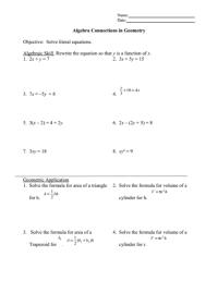 Algebra Equation Worksheets With Answer Key - algebra 1 ...