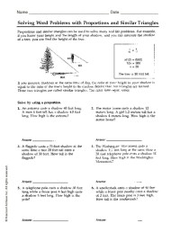 All Worksheets  Proportion Worksheets Word Problems