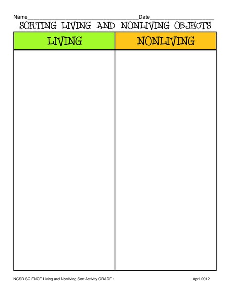 All Worksheets  Living And Nonliving Things Worksheets