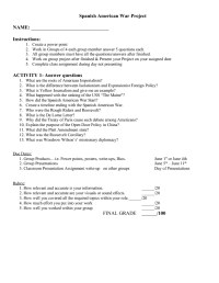 Spanish American War Worksheet. Worksheets. Ratchasima ...