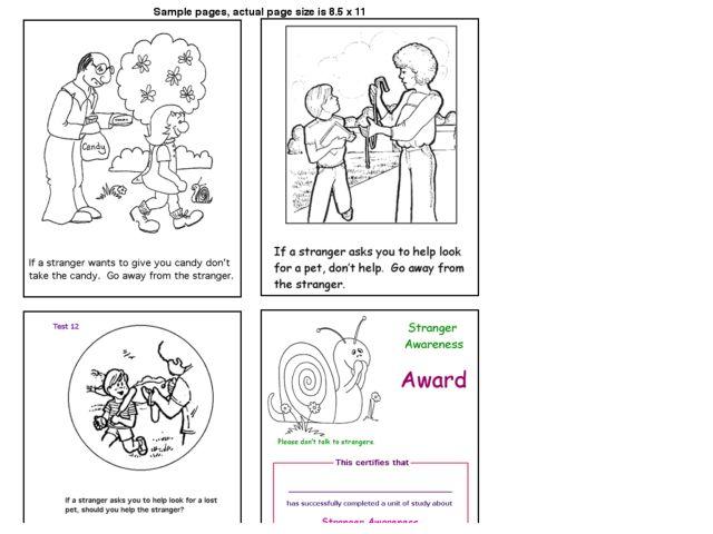 Strangers Imprintable Coloring Books Dessincoloriage – Stranger Danger Worksheets