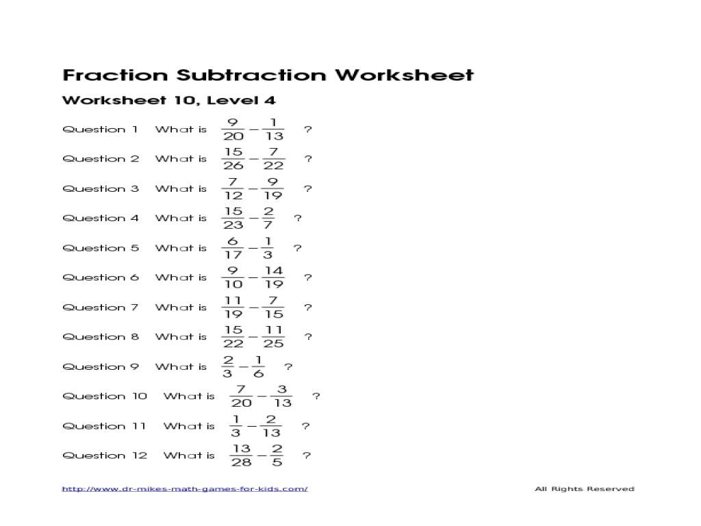 Worksheet Adding And Subtracting Unlike Fractions