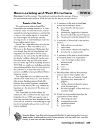 4th Grade  Text Structure Worksheets 4th Grade ...