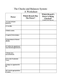 Checks And Balances Worksheet. Worksheets. Kristawiltbank ...