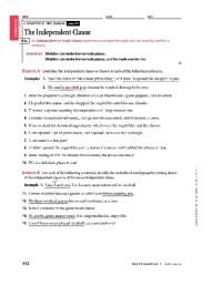 Subordinate Clauses Worksheet Free Worksheets Library