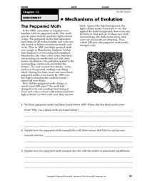 100+ [ Evolution By Natural Selection Worksheet Key ...