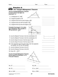 Midsegment Of A Triangle Worksheet Free Worksheets Library ...