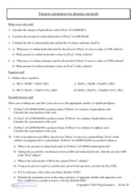 Printables. Titration Calculations Worksheet. Mywcct ...