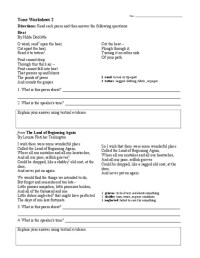 Identifying Tone Worksheet Free Worksheets Library