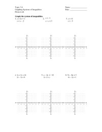 Graphing Systems Of Linear Inequalities Worksheet Free ...
