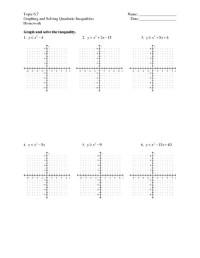 Quadratic Inequalities Worksheet - Free worksheets library ...