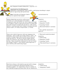 Independent And Dependent Variables Math Worksheet 6th ...