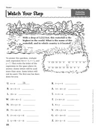Evaluating Algebraic Expressions Worksheets Grade 5 ...
