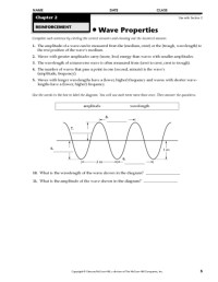 8th Grade  Sound Waves Worksheets 8th Grade
