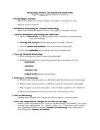 Erosion And Deposition Worksheets Worksheets For School ...