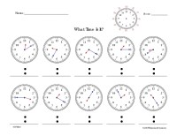 All Worksheets  Time To The Minute Worksheets - Printable ...