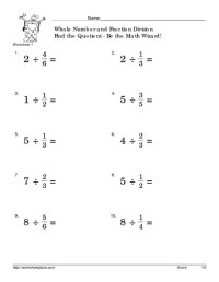 Multiplying And Dividing Fractions Worksheet Free