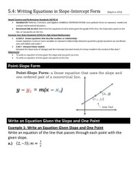 Writing Equations In Slope Intercept Form From Graph ...