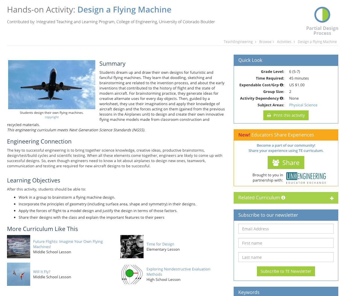 hight resolution of Design a Flying Machine Activities \u0026 Project for 5th - 7th Grade   Lesson  Planet