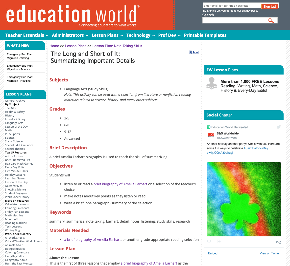 The Long and Short of It: Summarizing Important Details Lesson Plan for 3rd  - 12th Grade   Lesson Planet [ 1078 x 1172 Pixel ]