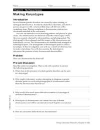 Making Karyotypes Worksheet for 9th - 12th Grade | Lesson ...