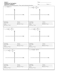 Trig Graphs Worksheet. Worksheets. Rssdotnet Free