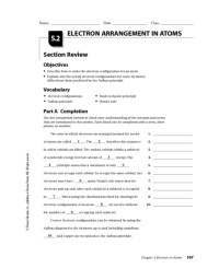 Section 5 Electrons In Atoms Worksheet Answers - Kidz ...