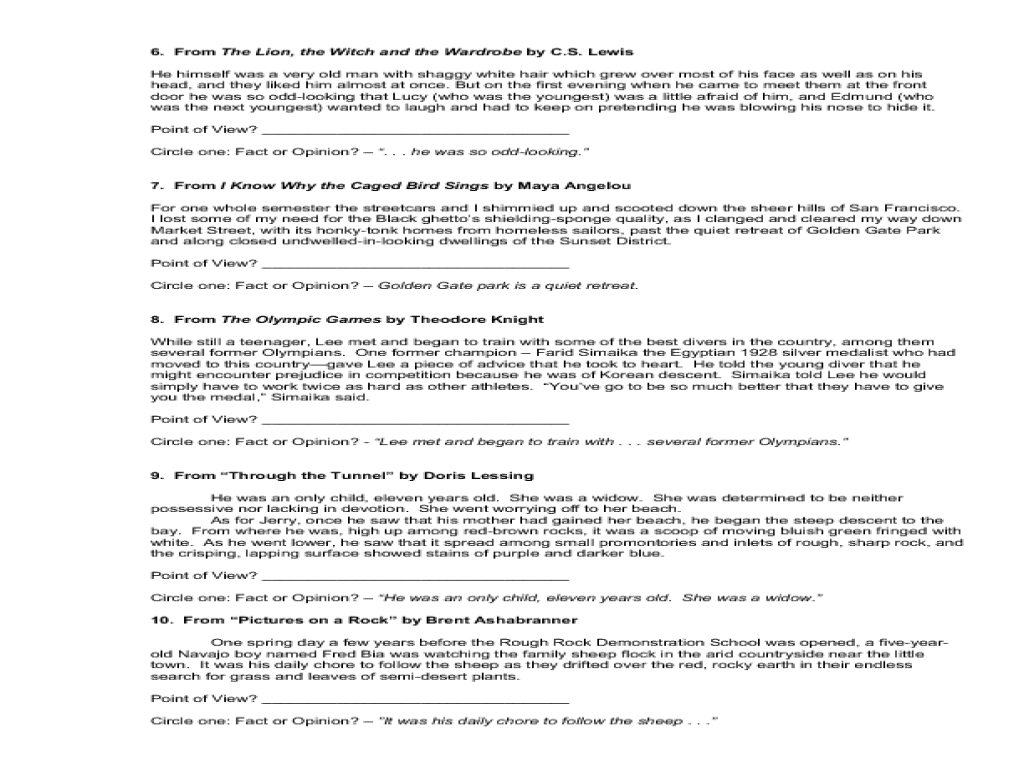 hight resolution of Fact and Opinion Passages Lesson Plans \u0026 Worksheets