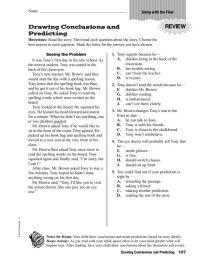 Printable Worksheets  Making Inferences Drawing ...